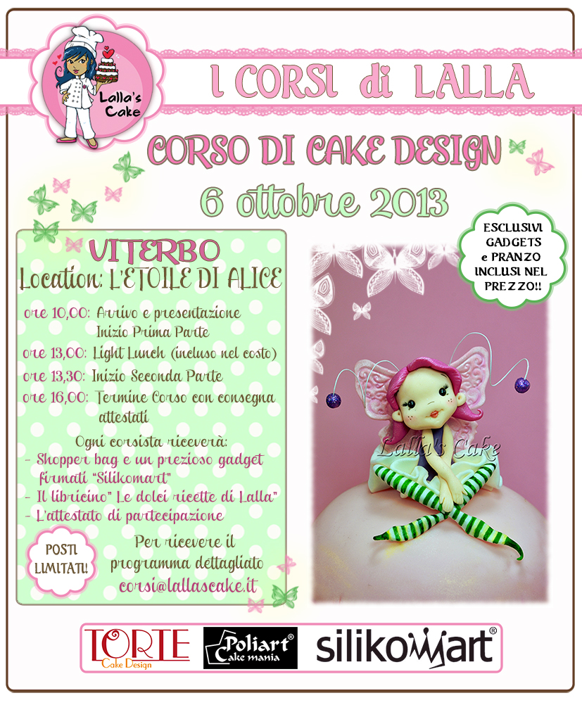 Corsi di cake design a roma e viterbo lalla 39 s cake cake for Corsi design roma