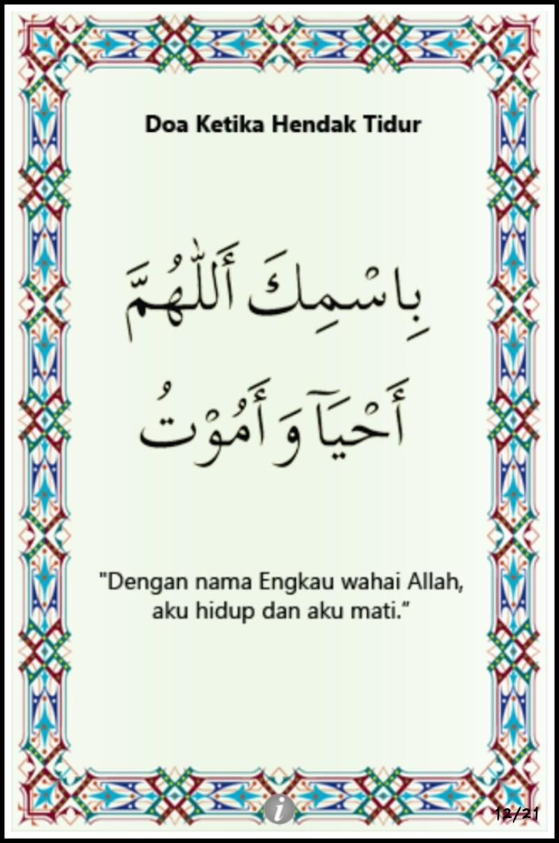 Alia Dah Reti Baca Doa Tidur