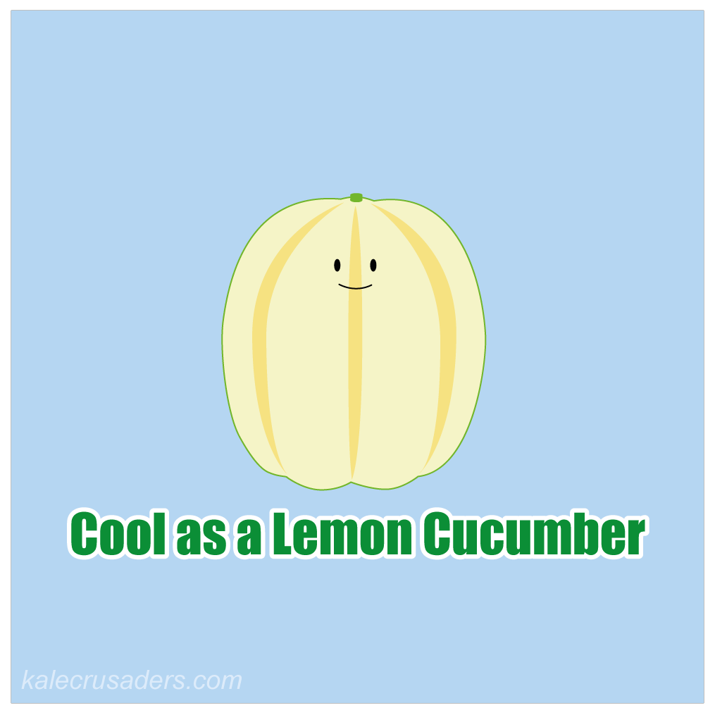 Lemon Cucumber, Cool as a Cucumber, Cool as a Lemon Cucumber