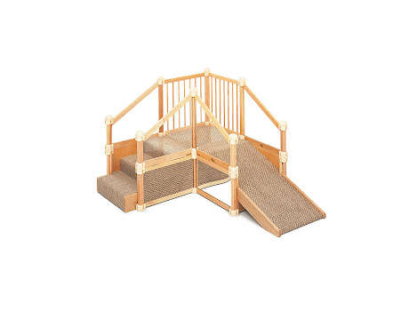 NAMC montessori infant toddler environment preparing for movement stairs with ramp