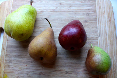 four pear varieties in season during fall