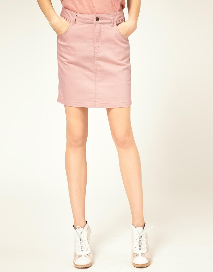 updatefashion lovely pink denim skirts from vero moda