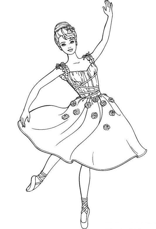 Desenhos Para Colorir Princesa Barbie Barbies  bailarina