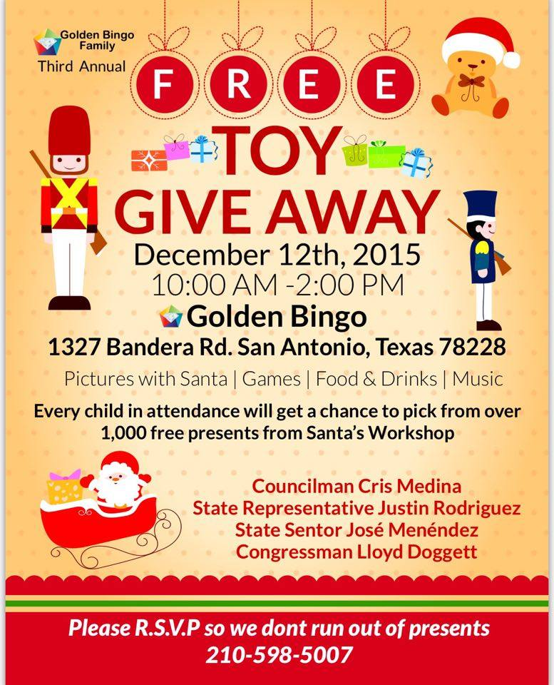 Toy giveaway for christmas in san antonio tx