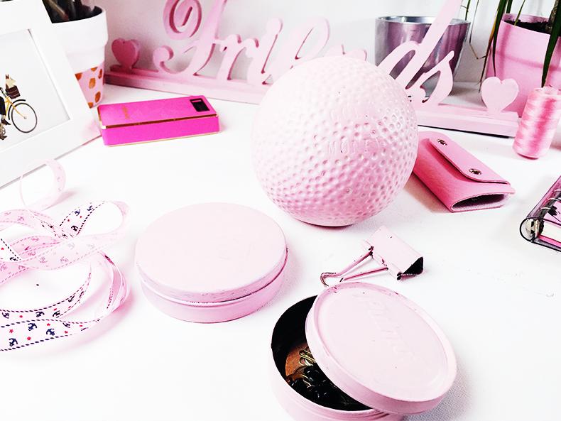 DIY: Pink Decorations | Prosty i szybki sposób, aby odnowić stare dekoracje tutorial Gold and Berry blog