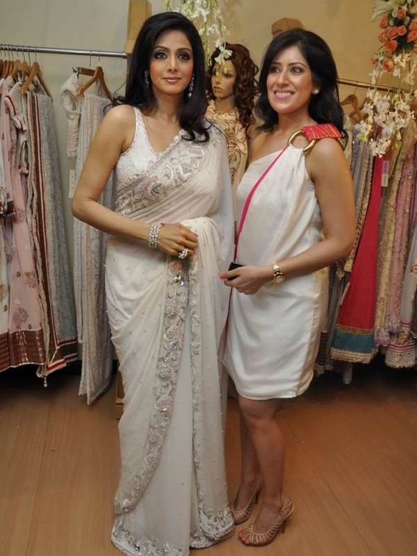 , Sridevi in Sexy White Saree