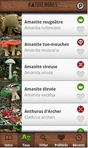Application une s lection d 39 applications pour des balades en for t des tablettes la - Application pour reconnaitre les champignons ...