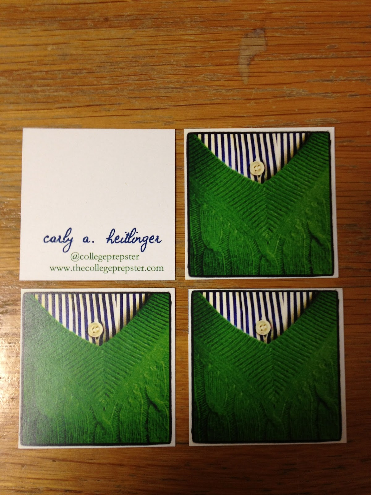 Instagram Business Cards The College Prepster