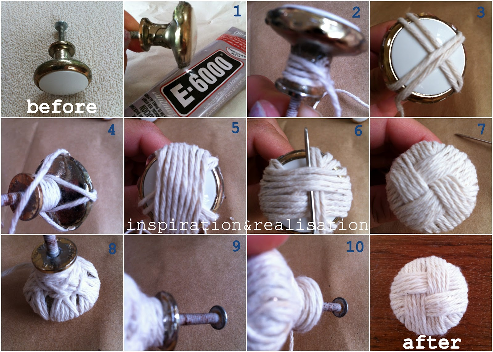 Diy Cabinet Knobs Inspiration And Realisation Diy Fashion Blog Diy Knotted Knobs