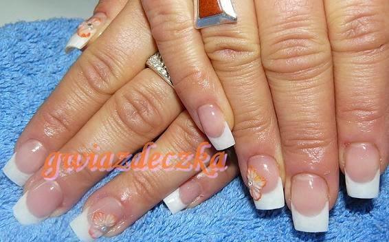 paznokcie żelowe ślubne