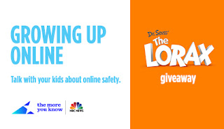 Growing Up Online Giveaway. Enter to win Dr. Seuss' The Lorax. Ends 9/30.