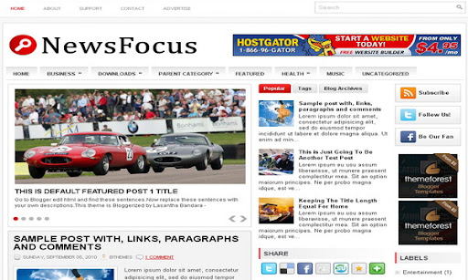 NewsFocus blogger templates