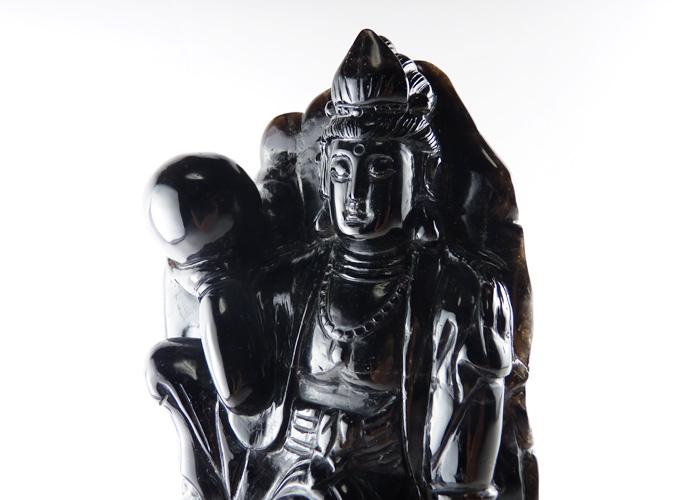 モリオン(黒水晶) 菩薩