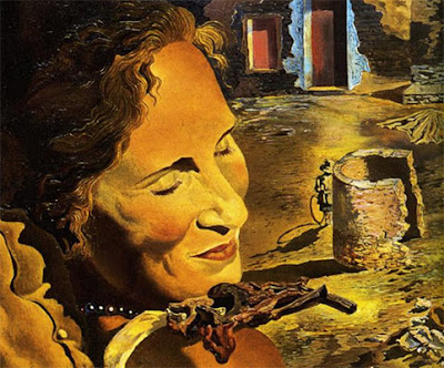 Gala in a Dali painting