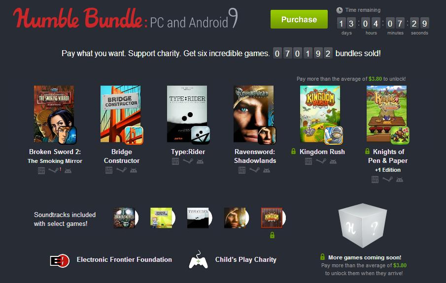 Consigue 4 juegos para PC y Android por solo 0,01$