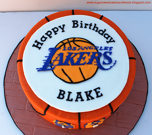 Los Angeles Lakers Cake Sugar Sweet Cakes And Treats