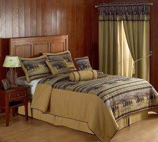 Chezmoi Collection Santa Fe Horses Cabin Lodge Tapestry 7-Piece Comforter Set, Queen