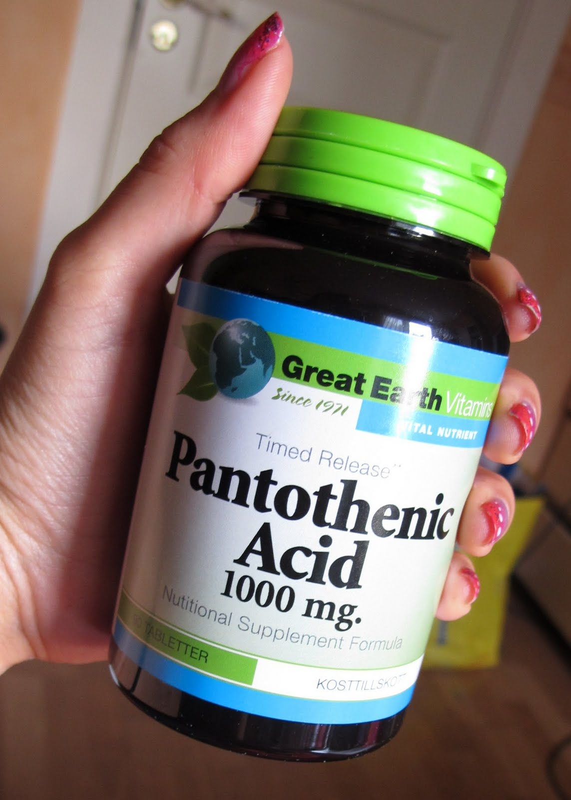 great earth pantotensyra 1000 mg