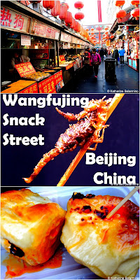 Travel the World: Wangfujing Snack Street in Beijing China is where to go to find street food including fried bugs like scorpions.