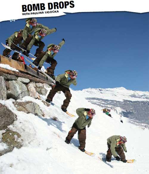 Snowboarding Trick : Bomb Drops