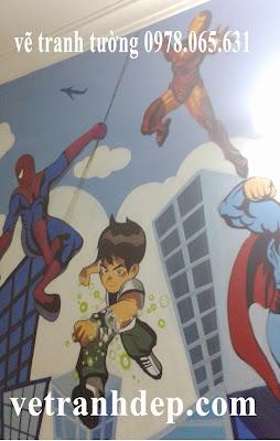 vẽ tranh tường cho bé,vẽ tranh tường phòng trẻ em