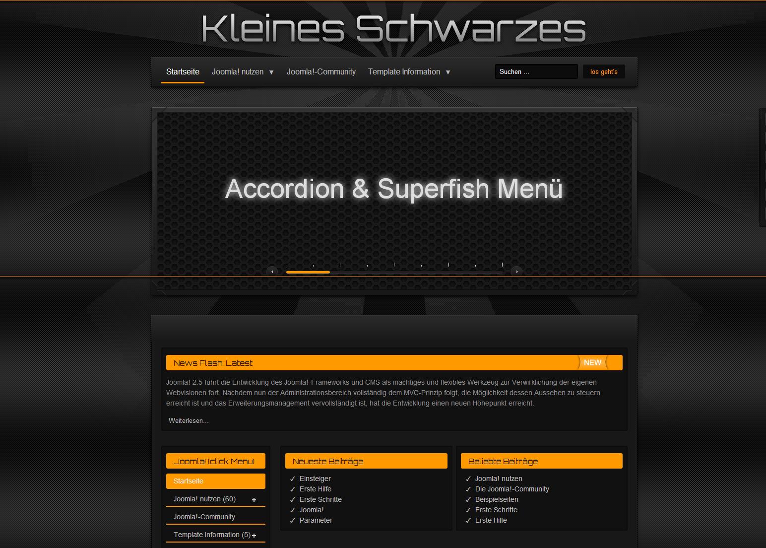 ah-68 Kleines Schwarzes Free Joomla Template