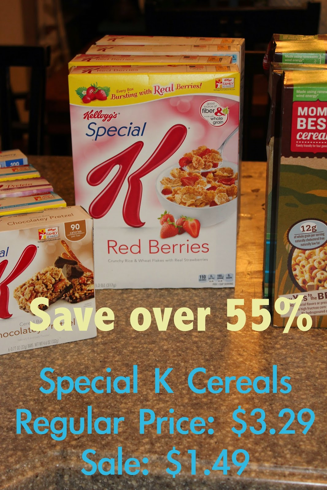 Special K cereals on sale for only $1.49-save over 55%