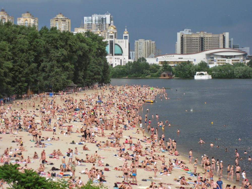 пляж киевского Гидропарка