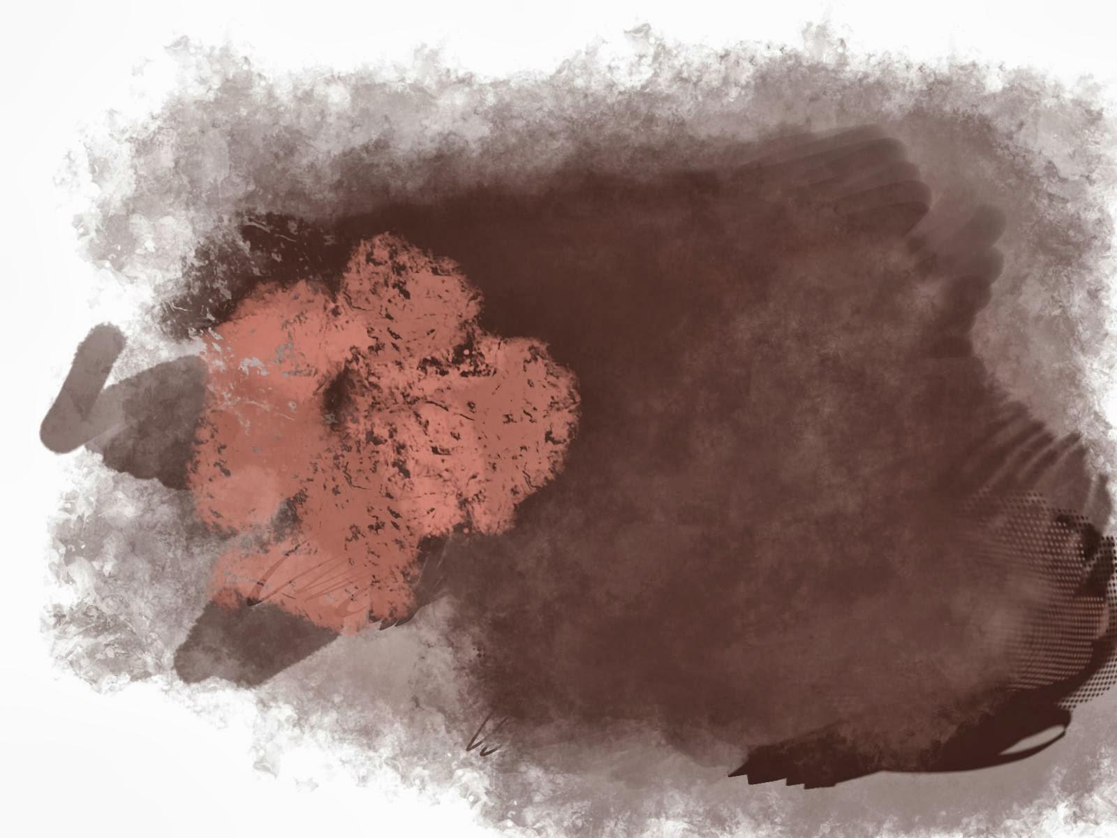 Uma imagem feita no krita com alguns dos pinceis tipo .gih do forks.