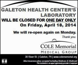 4-18 Galeton Lab Closed