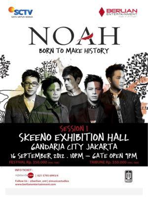 NOAH dan Ariel Mencoba Membuat Rekor Dunia dalam Konsernya