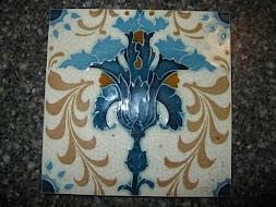 Majolica Tile -Blue Floral