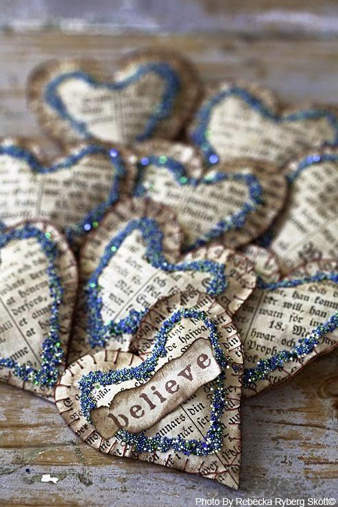 papierowe serca