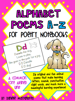 https://www.teacherspayteachers.com/Product/Alphabet-Poems-A-Z-for-Poetry-NotebooksJournals-264122