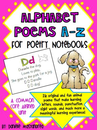 https://www.teacherspayteachers.com/Product/Alphabet-Poems-A-Z-for-Poetry-NotebooksJournals-264122