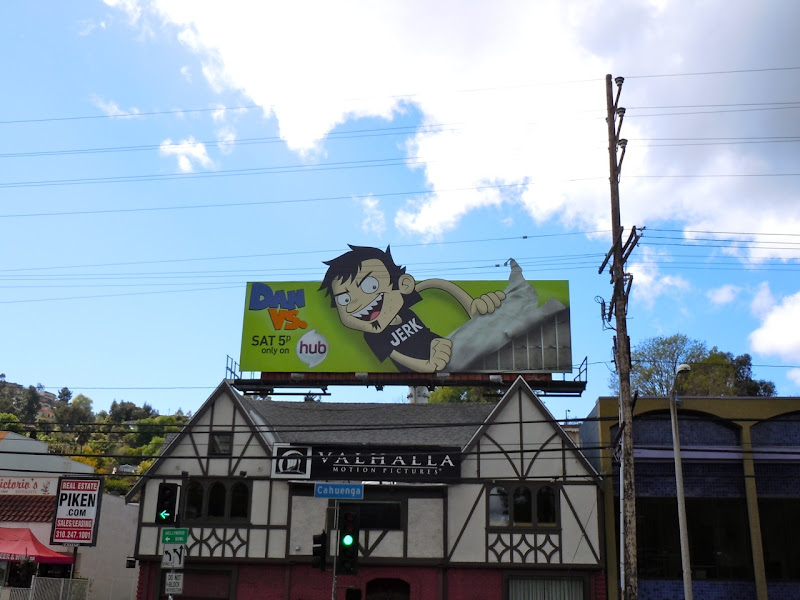 Dan Vs cartoon show billboard