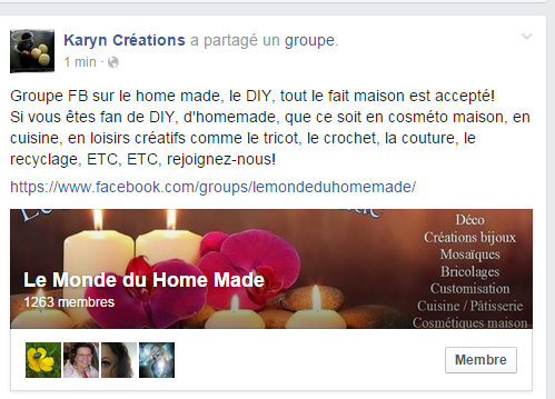 Groupe FB Le Monde Du Homemade