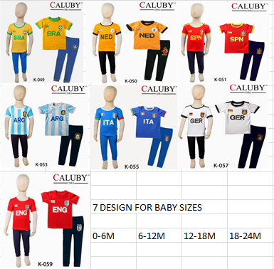 2014 WORLD CUP PAJAMAS (BABY SIZE)