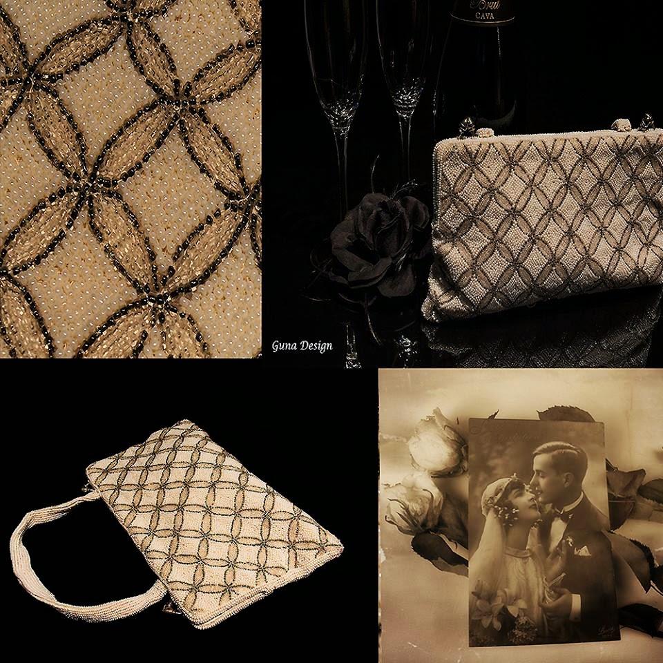 gunadesign Handmade beaded vintage purse (Belgium)