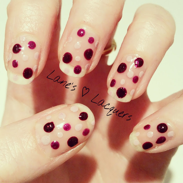 40-great-nail-art-ideas-three-purple-dotticure-nails