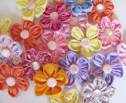 Flores de fuxico