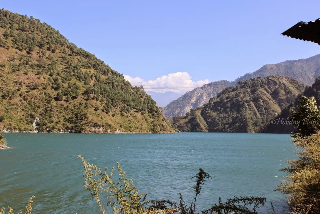 Chamera lake surrounded by hills