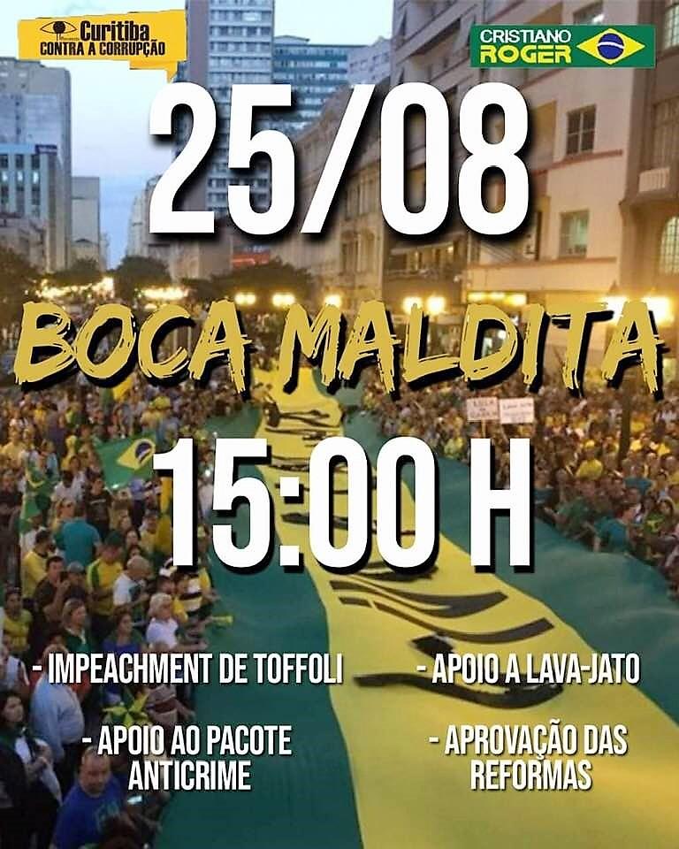 25 de agosto, 15h: Curitiba