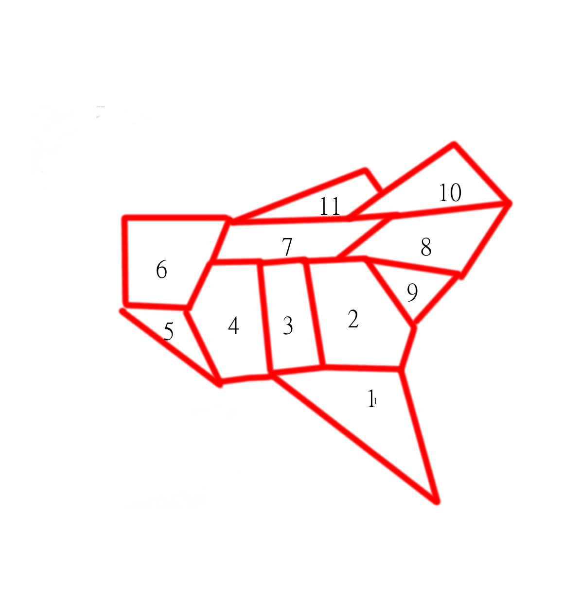 now imagine you draw an infinite number of lines across this map from north to south and group together any infinite collection of lines that cross through