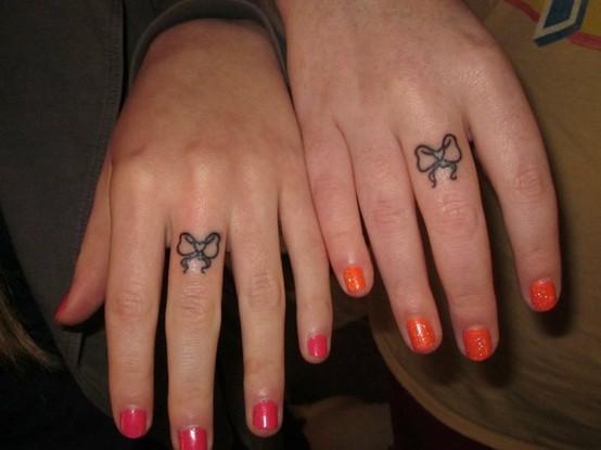 sisters tattoo. sisters tattoo. pretty bows on
