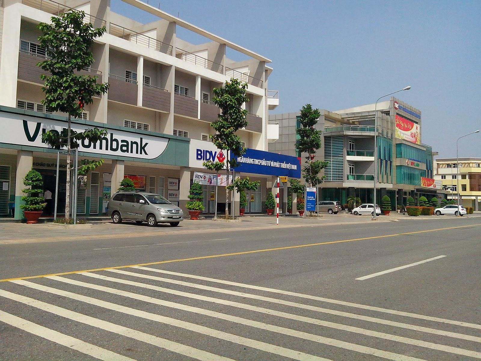 Ngân ngàn BIDV Vietcombank Thành phố mới Bình Dương, ngan hang tp moi bd