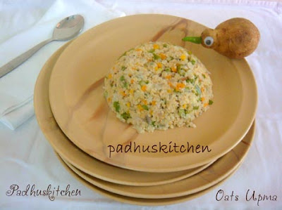 Oats upma-Oats vegetable upma