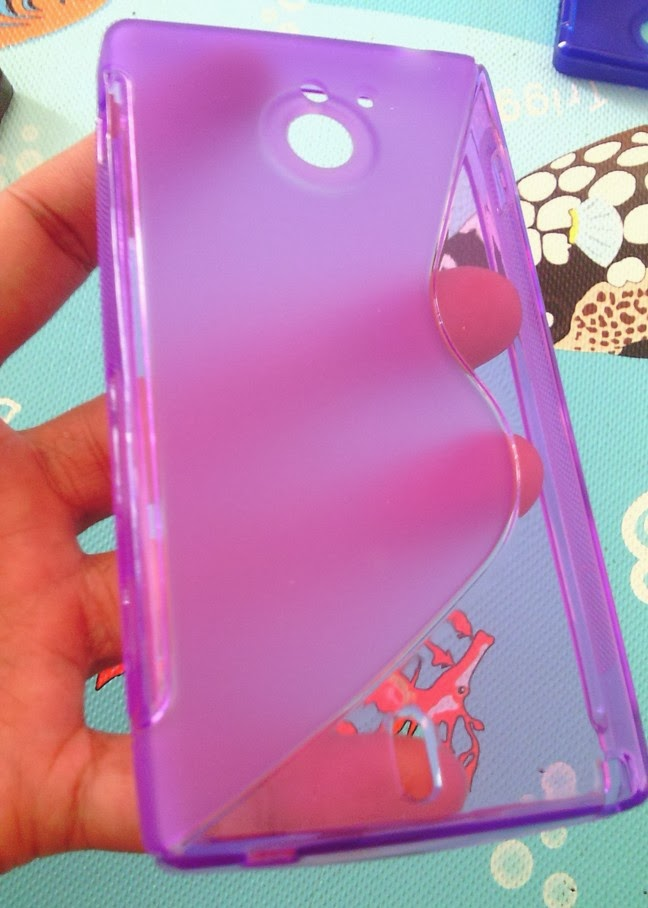 TPU Jelly Case for Sony Xperia Sola MT27i - Purple