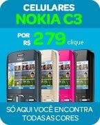 Nokia c3, por Apenas 279,00 em até 12X