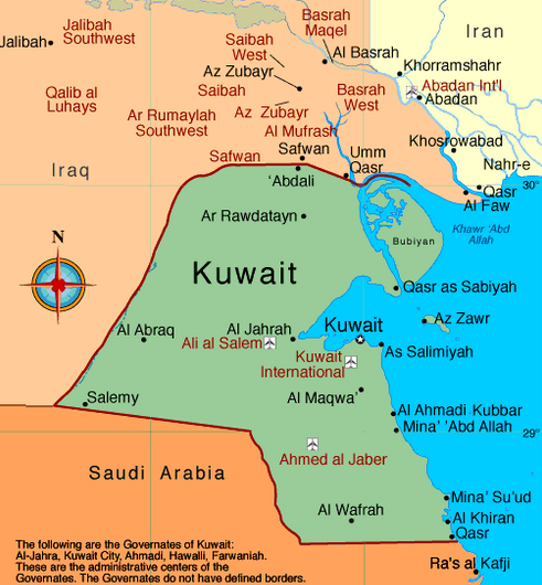 kuwait political map images